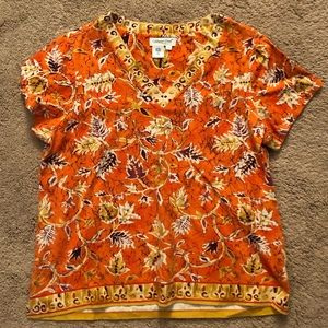 Coldwater Creek women's size 1X v-neck shirt